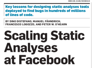 Facebook study about diff time bug fix rate